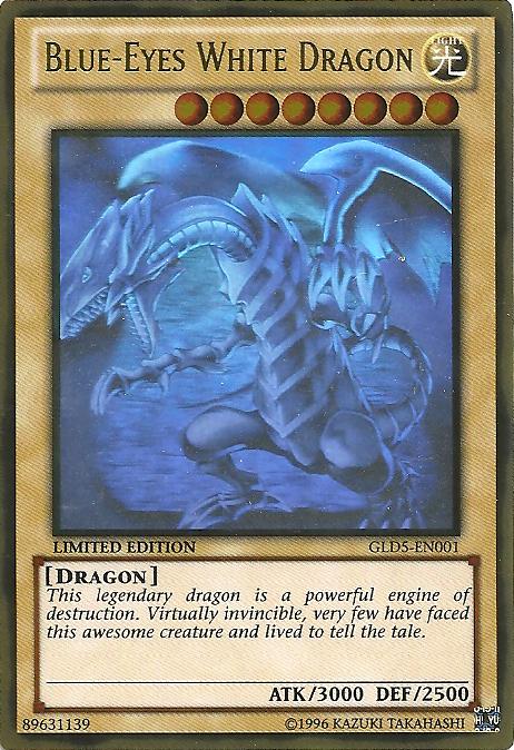 Blue-Eyes White Dragon - GLD5-EN001 - Ghost/Gold Hybrid Rare - Limited Edition