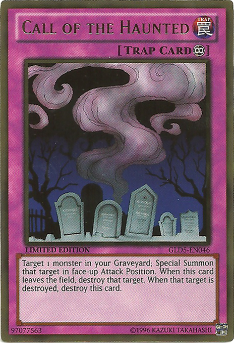 Call of the Haunted - GLD5-EN046 - Gold Rare - Limited Edition