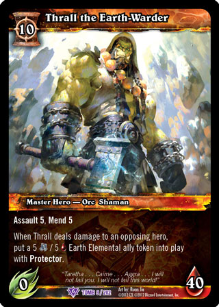 Guardian of the Elements Foil Thrall World of Warcraft WoW TCG Promo