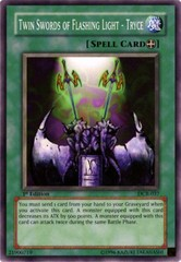 Twin Swords of Flashing Light - Tryce - DCR-037 - Common - 1st Edition