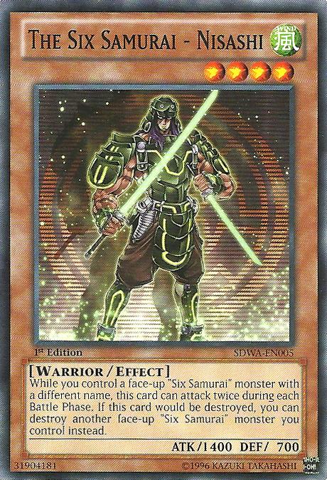 Irou sdwa-en008 1st Ed 3 x The Six Samurai Common Yu-Gi-Oh! MINT