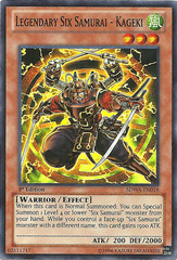Legendary Six Samurai - Kageki - SDWA-EN018 - Super Rare - 1st Edition on Channel Fireball