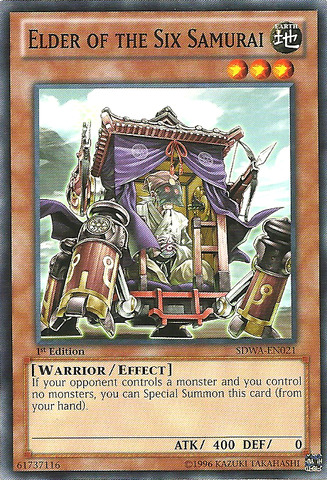 Elder of the Six Samurai - SDWA-EN021 - Common - 1st Edition
