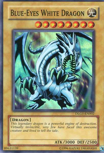 Blue-Eyes White Dragon - DLG1-EN002 - Super Rare - Unlimited Edition