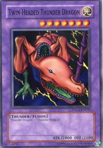 Twin-Headed Thunder Dragon - DLG1-EN043 - Common - Unlimited Edition