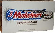3 Musketeer Coconut Candy Bar Countgood 1.49oz 24ct
