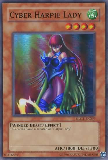 Cyber Harpie Lady - DLG1-EN097 - Super Rare - Unlimited Edition
