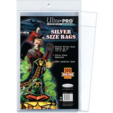 Silver Size 7-1/4 X 10-3/8 Comic Bags