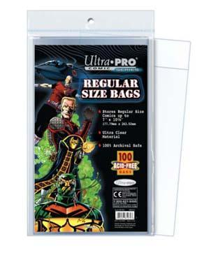 Regular Size 7-1/8 X 10-3/8 Comic Bags