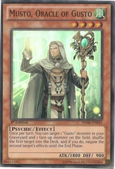 Musto, Oracle of Gusto - HA06-EN045 - Super Rare - 1st Edition