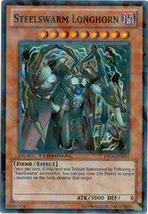 Steelswarm Longhorn - DT06-EN031 - Super Parallel Rare - Duel Terminal on Channel Fireball