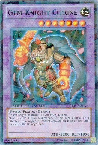 Gem-Knight Citrine - DT06-EN035 - Super Parallel Rare - Duel Terminal