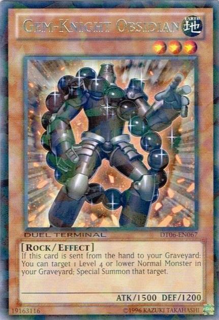 Gem-Knight Obsidian - DT06-EN067 - Rare Parallel Rare - Duel Terminal
