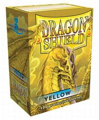 Dragon Shield Box of 100 in Yellow on Channel Fireball