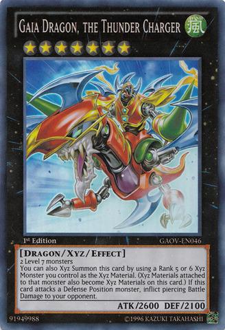 Gaia Dragon, the Thunder Charger - GAOV-EN046 - Super Rare - Unlimited Edition