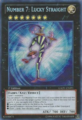 Number 7: Lucky Straight - GAOV-EN091 - Secret Rare - Unlimited Edition