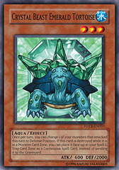 Crystal Beast Emerald Tortoise - FOTB-EN003 - Common - 1st Edition on Channel Fireball