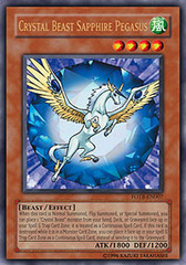 Crystal Beast Sapphire Pegasus - FOTB-EN007 - Ultra Rare - 1st Edition on Channel Fireball