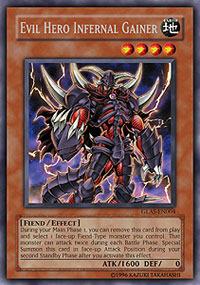 Evil Hero Infernal Gainer - GLAS-EN004 - Rare - 1st Edition