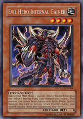 Evil Hero Infernal Gainer - GLAS-EN004 - Rare - 1st Edition
