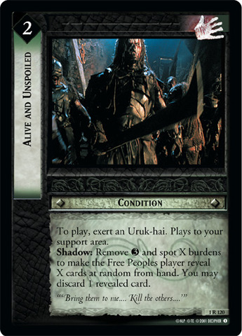 Alive and Unspoiled - Foil
