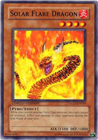 Solar Flare Dragon - GLD1-EN019 - Common - Limited Edition
