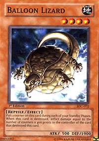 Balloon Lizard - IOC-072 - Common - 1st Edition