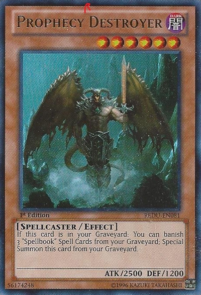 Prophecy Destroyer - REDU-EN081 - Ultra Rare - 1st Edition