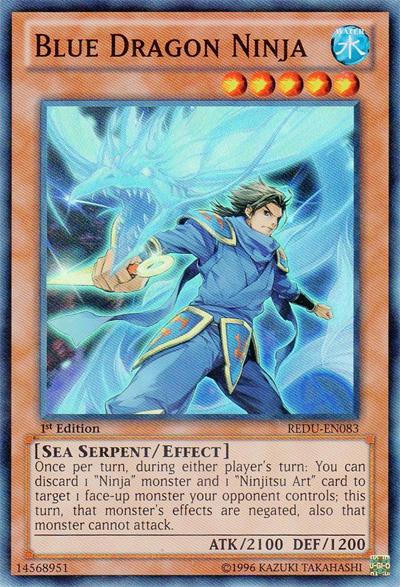 Blue Dragon Ninja - REDU-EN083 - Super Rare - 1st Edition
