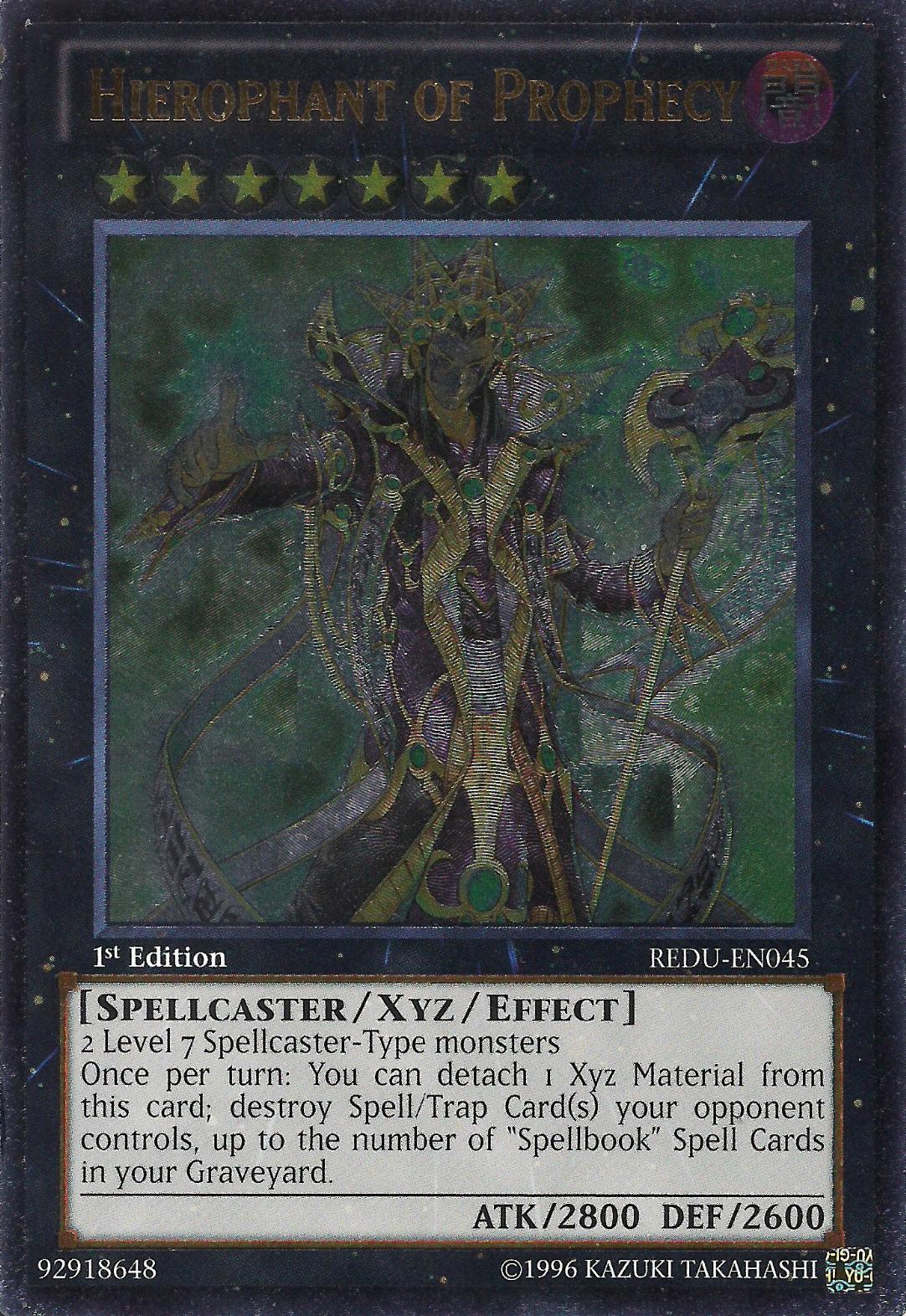 Hierophant of Prophecy - REDU-EN045 - Ultimate Rare - Unlimited Edition