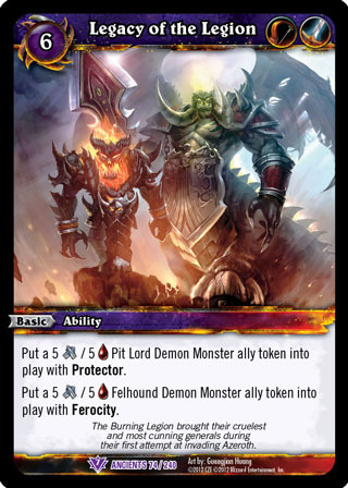 WOW WARCRAFT TCG WAR OF THE ANCIENTS TRICKSTER/'S EDGE X 4