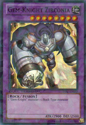 Gem-Knight Zirconia - DT07-EN033 - Super Parallel Rare - Duel Terminal