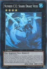 Number C32: Shark Drake Veiss - ABYR-EN039 - Ghost Rare - 1st Edition