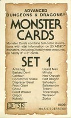 Monster Cards, Set 1