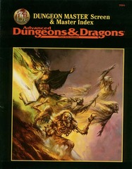AD&D - Dungeon Master Screen & Master Index 9504