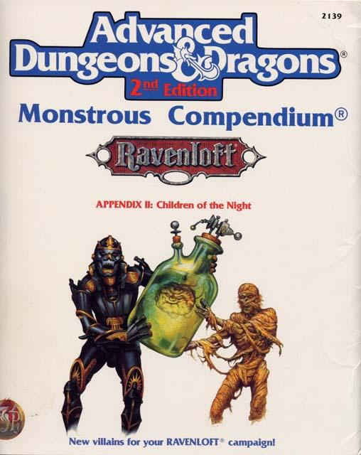 AD&D 2E Monstrous Compendium Ravenloft Appendix II: Children of the Night 2139