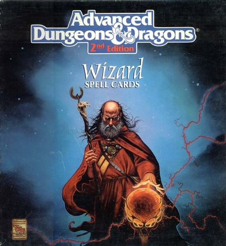 wizard spell cards role playing games dungeons dragons