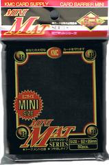 KMC Mini Sized Matte Black Sleeves - 50ct.