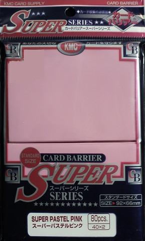 KMC Super Pastel Pink Sleeves (80 ct)