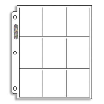 Ultra Pro 9 Pocket Binder Sheet