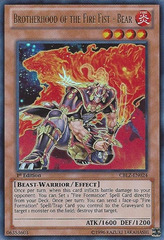 Brotherhood of the Fire Fist - Bear - CBLZ-EN024 - Ultra Rare - 1st Edition