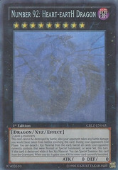 Number 92: Heart-eartH Dragon - CBLZ-EN045 - Ghost Rare - 1st Edition *7