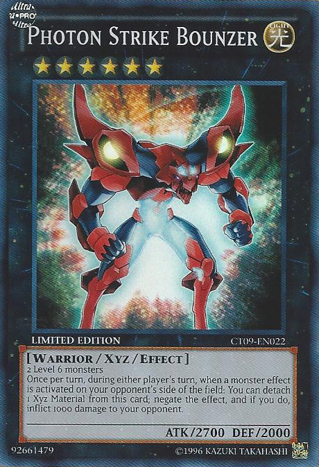 Photon Strike Bounzer - CT09-EN022 - Super Rare - Limited Edition - Promo