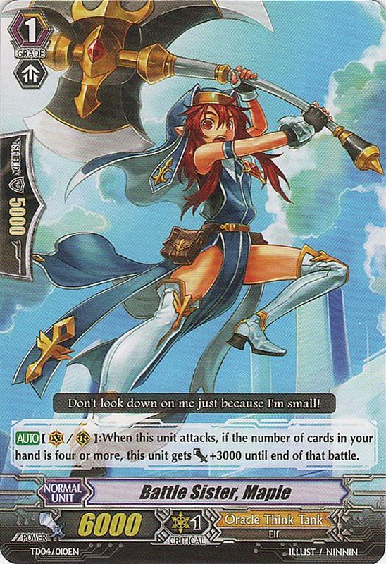 Battle Sister, Maple - TD04/010EN - TD