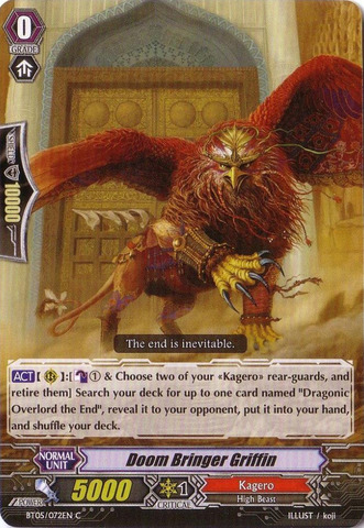 Doom Bringer Griffin - BT05/072EN - C