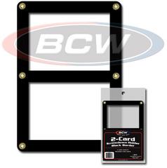 Double Card Screwdown Holder - Black Border