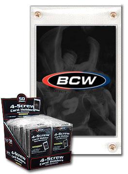 BCW 4-Screw Card Holder - Recessed