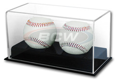 Deluxe Acrylic Double Baseball Display
