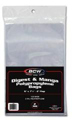 Manga or Digest Bags - 6 X 7 5/8 - Pack of 100