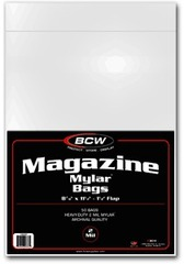 Magazine Bags Mylar Bags 2 Mil - 8 7/8 x 11 1/2 - Pack of 50